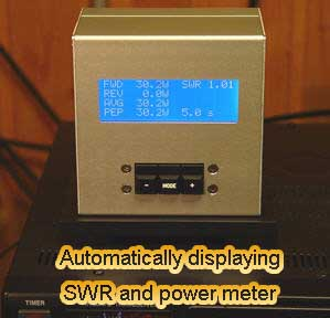 Automatically displaying SWR and power meter