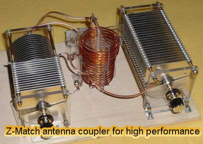 Z-Match antenna coupler for high performance