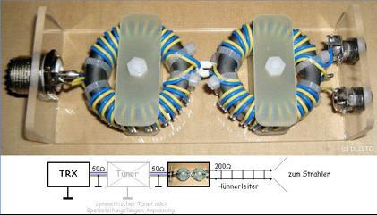 50 ohm to 200 ohm RF transformer