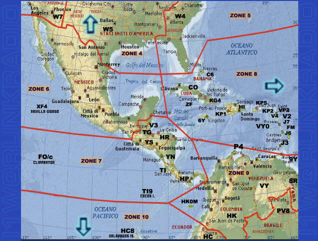 CENTRAL AMERICA World maps i1wqrLinkRadio